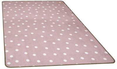 Primaflor-Ideen in Textil Kinderteppich »PUNTO«, rechteckig, 5 mm Höhe, Punkt Motiv kaufen