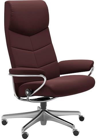 Stressless® Relaxsessel »Dublin«, High Back, mit Home Office Base, Gestell Chrom kaufen