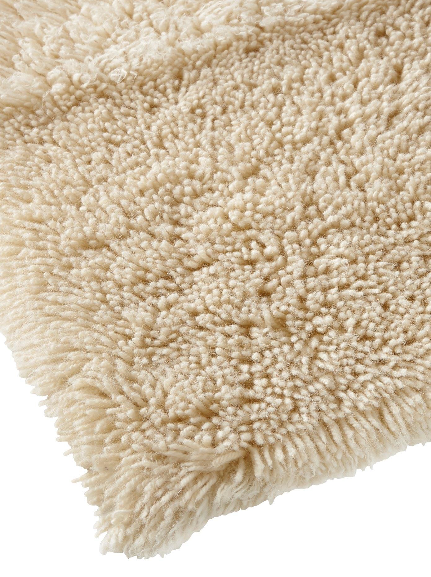 heine home Teppich, rechteckig, 70 mm Höhe beige Teppich Schurwollteppiche Naturteppiche Teppiche
