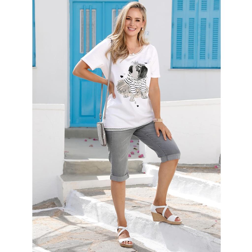 MIAMODA Print-Shirt, mit Hundedruck