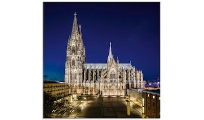 Artland Glasbild »Kölner Dom am Abend«, Gebäude, (1 St.) kaufen