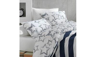 TRAUMSCHLAF Wendebettwäsche »Stella«, mit einer Streifen-Sterne Kombination kaufen