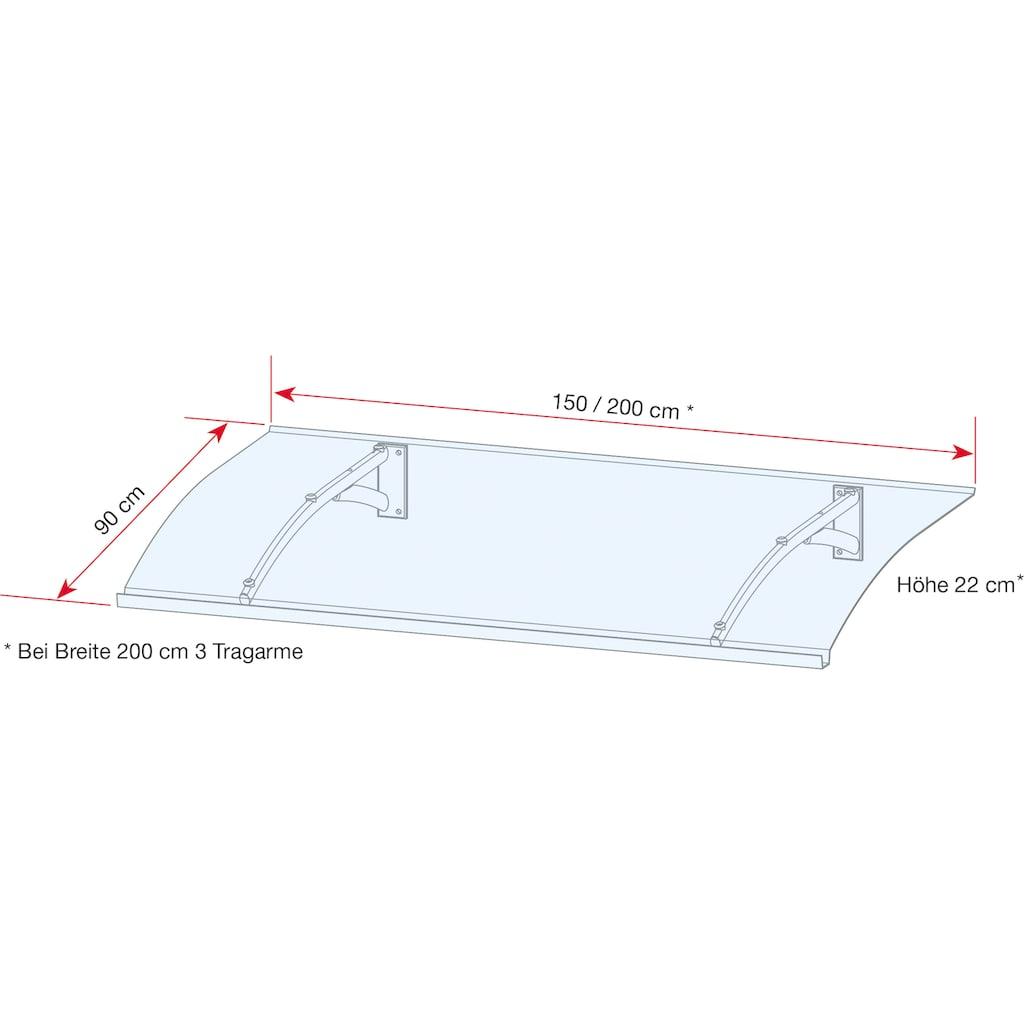 GUTTA Pultvordach »TYP PT SECCO«, BxT: 150x90 cm