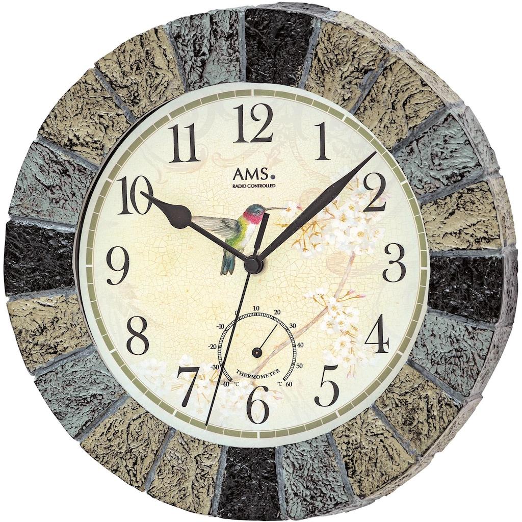 AMS Funkwanduhr »Außenuhr, F5979«