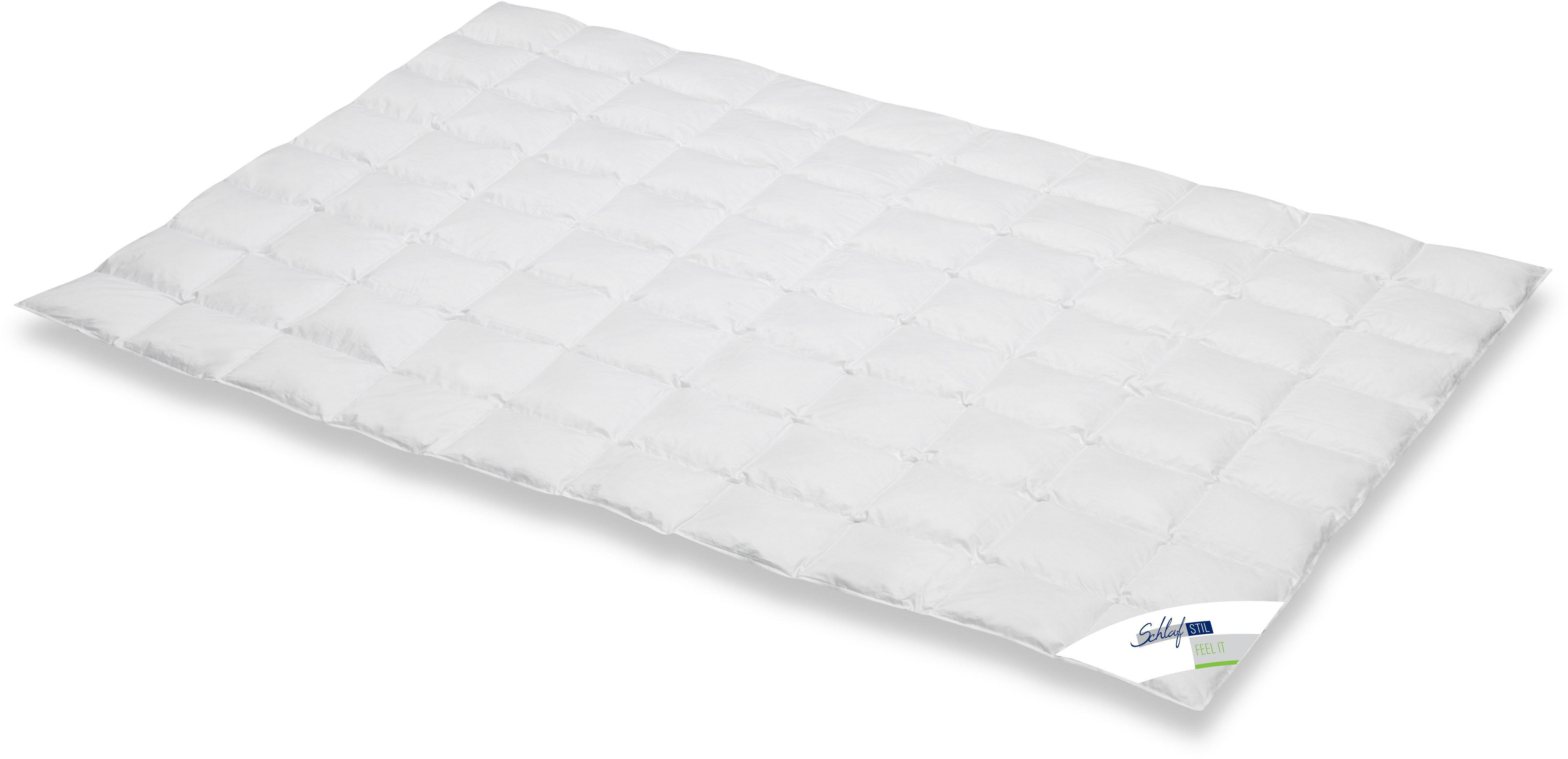 Daunenbettdecke Feel It Schlafstil leicht Füllung: 100% Daunen Bezug: 100% Baumwolle