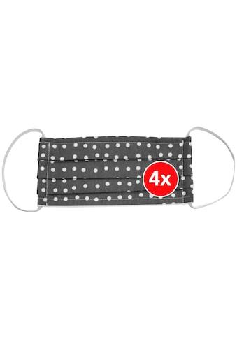 WENKO Packung: Mund - Nasen - Masken Set 4 - tlg., wiederverwendbar, Größe M kaufen
