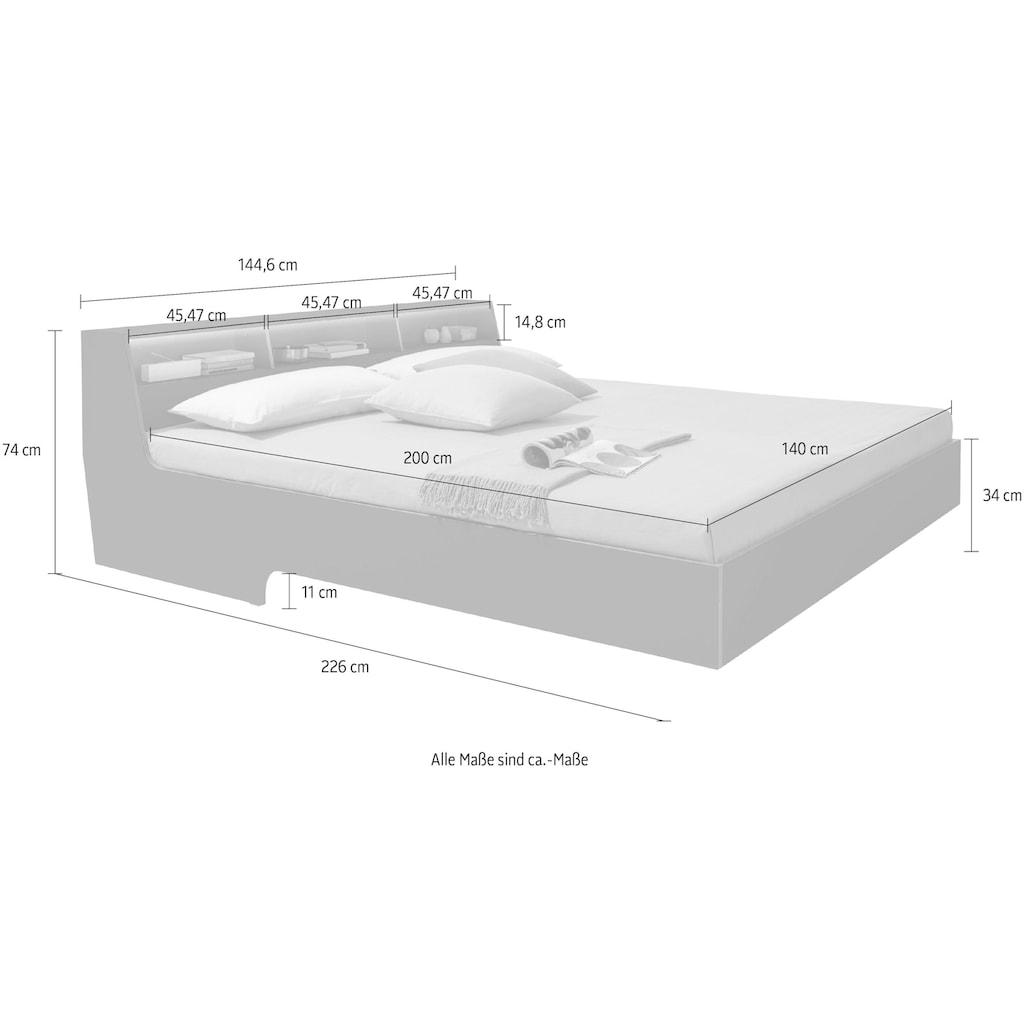 Müller SMALL LIVING Bett »Slope«, inklusive LED Beleuchtung