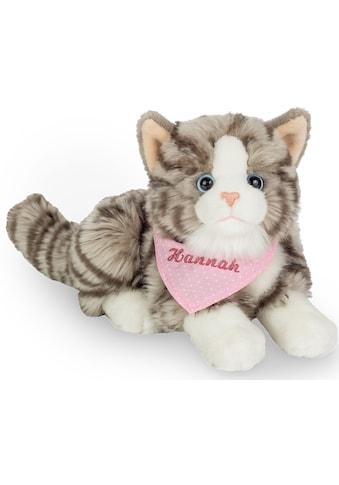 """Teddy Hermann® Kuscheltier """"Katze grau mit rosa Halstuch, 20 cm"""" kaufen"""