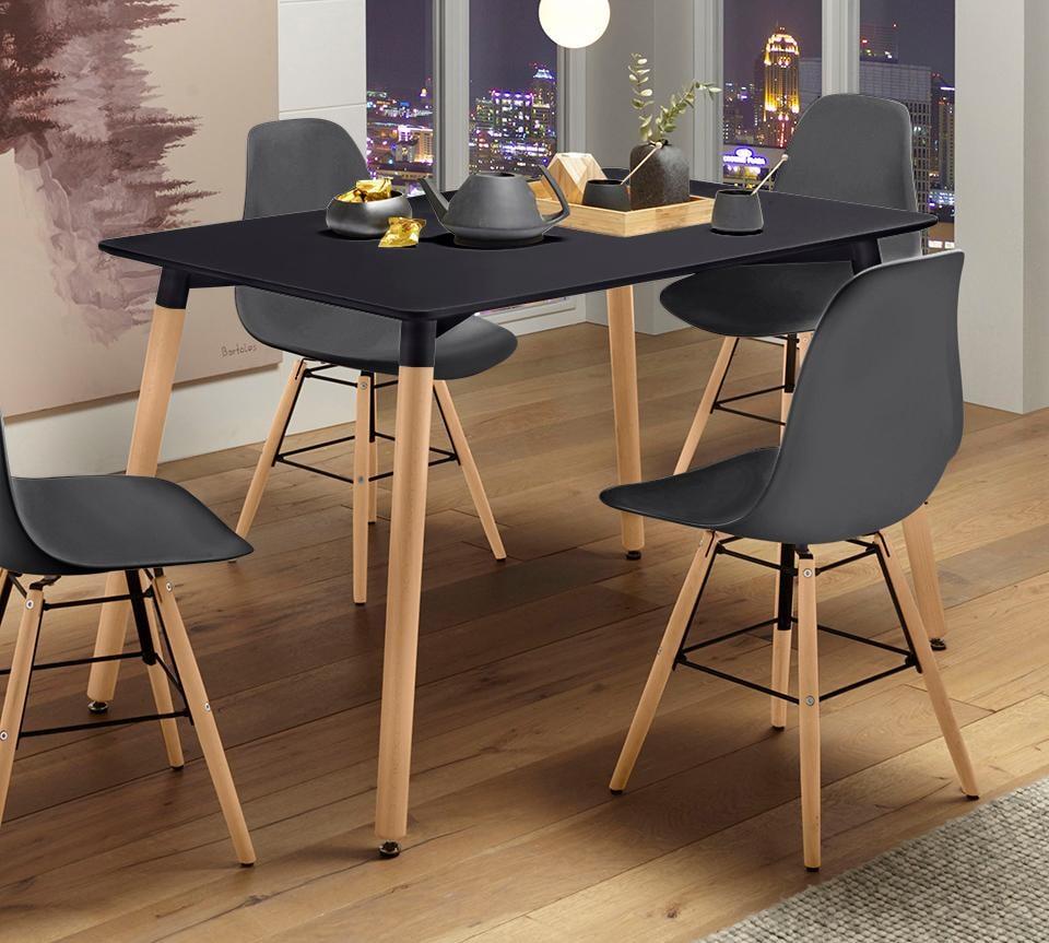 Paroli Esstisch, Breite 120 cm schwarz Esstisch Ausziehbare Esstische Tische