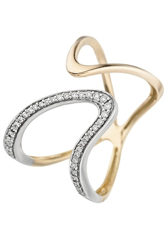 JOBO Diamantring, 585 Gold mit 36 Diamanten kaufen