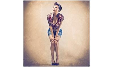 Art & Pleasure Holzbild »Mrs pin up«, Menschen kaufen
