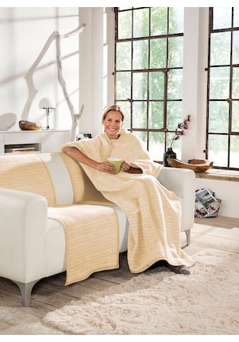 IBENA Wohndecke »Fano«, Wohnmantel mit Druckknöpfen kaufen