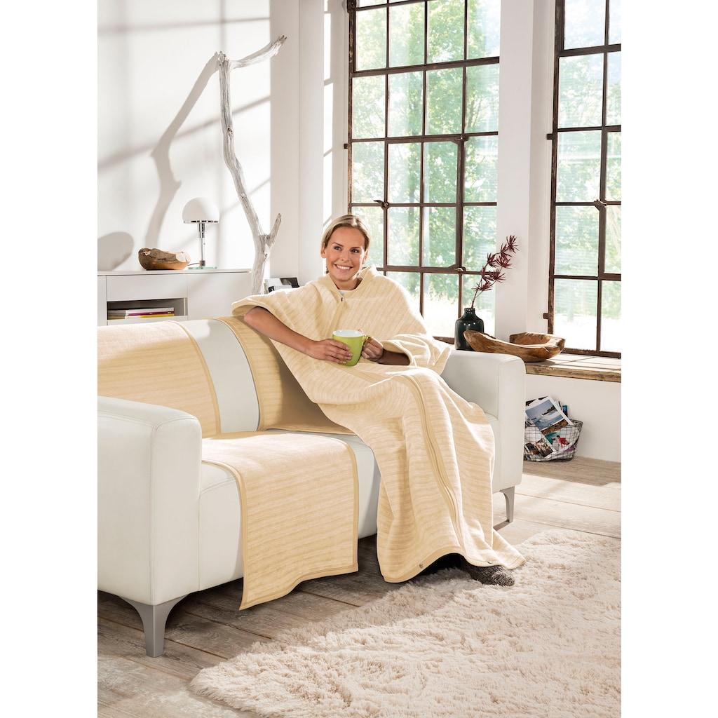 IBENA Wohndecke »Fano«, Wohnmantel mit Druckknöpfen