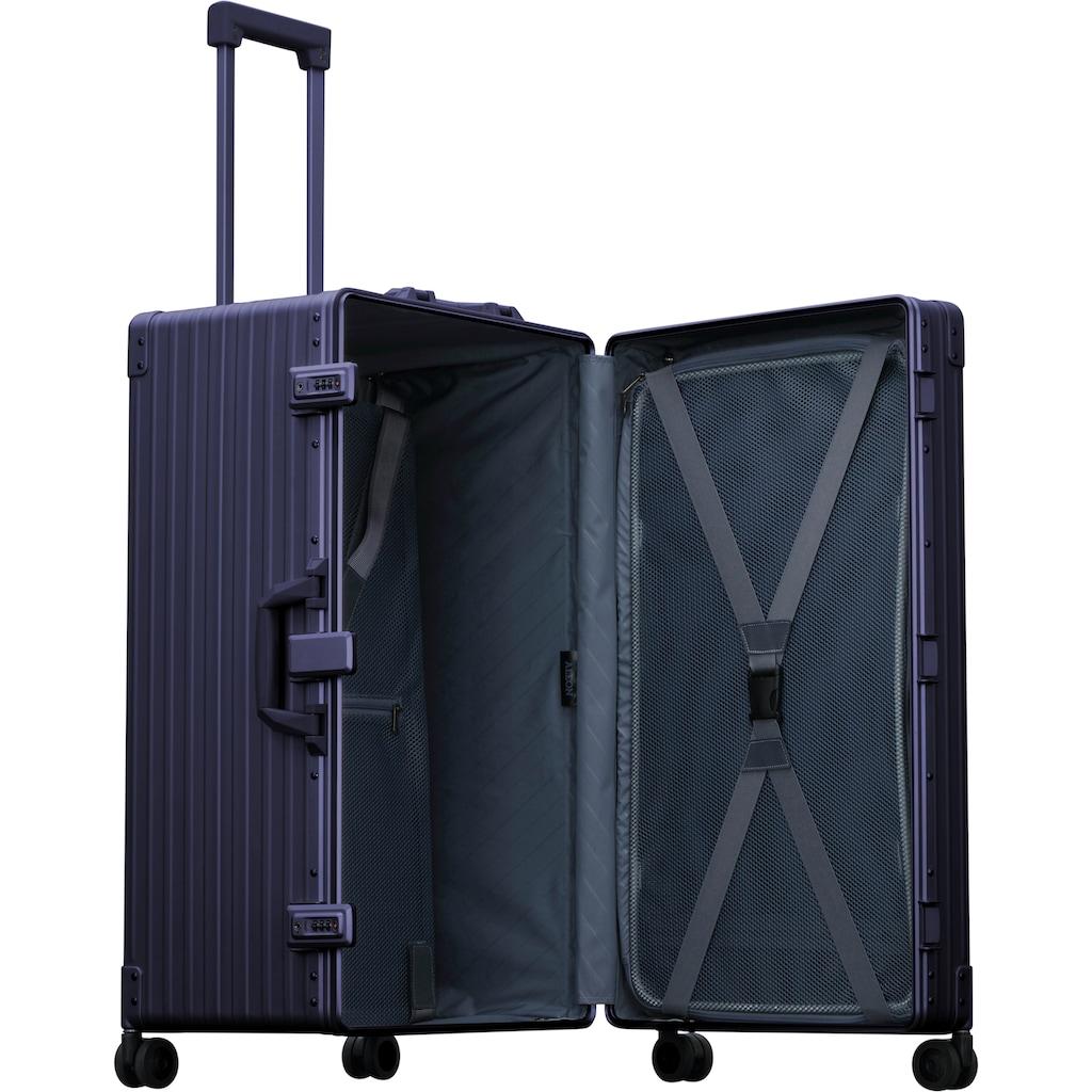ALEON Hartschalen-Trolley »Aluminiumkoffer International Trunk, 78 cm«, 4 Rollen, inkl. Schutzhülle und Packwürfel