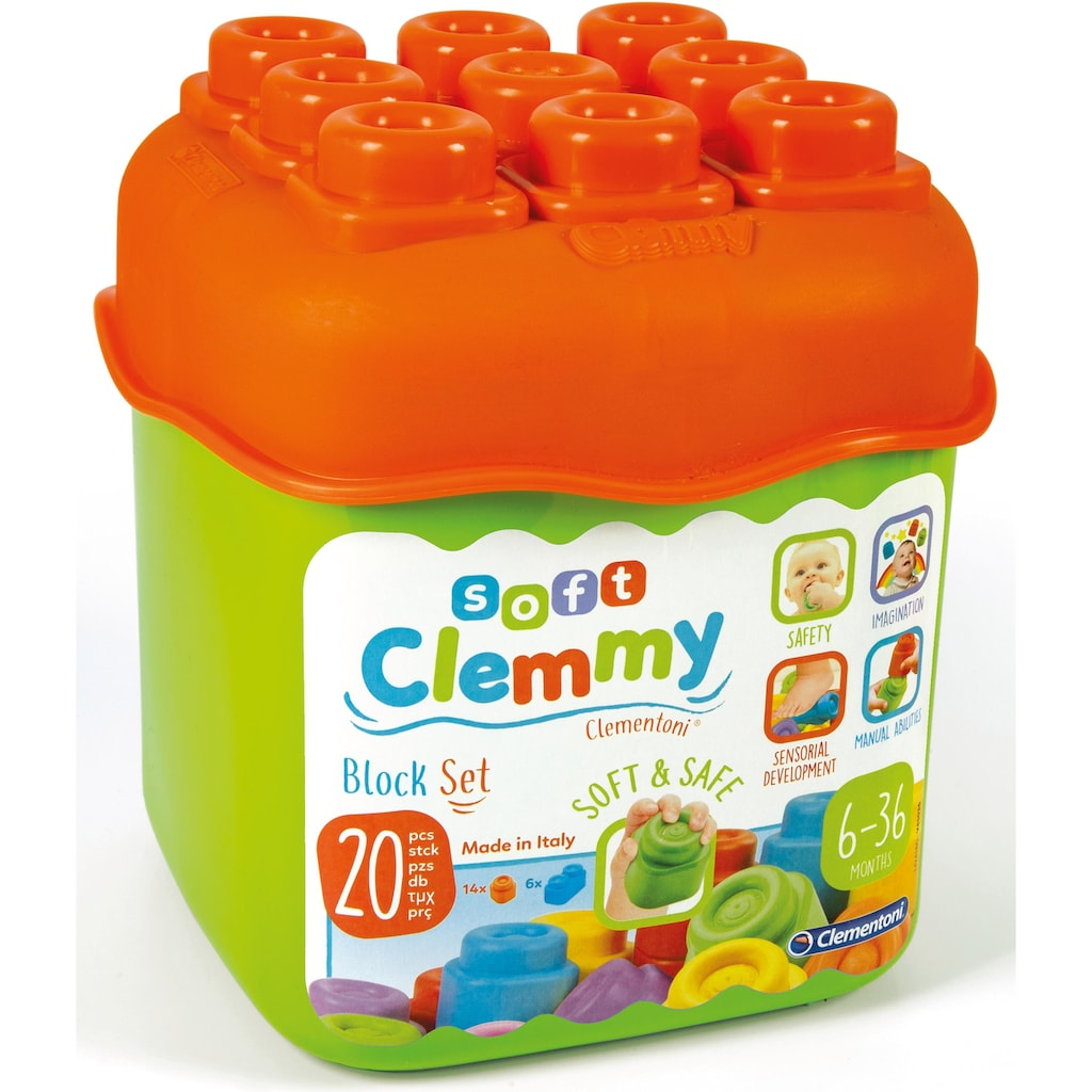 Clementoni® Spielbausteine »Clemmy Baby Eimer«, (20 St.), Made in Europe