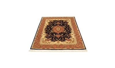 morgenland Teppich »Täbriz 50 Raj Teppich handgeknüpft dunkelblau«, rechteckig, 7 mm... kaufen