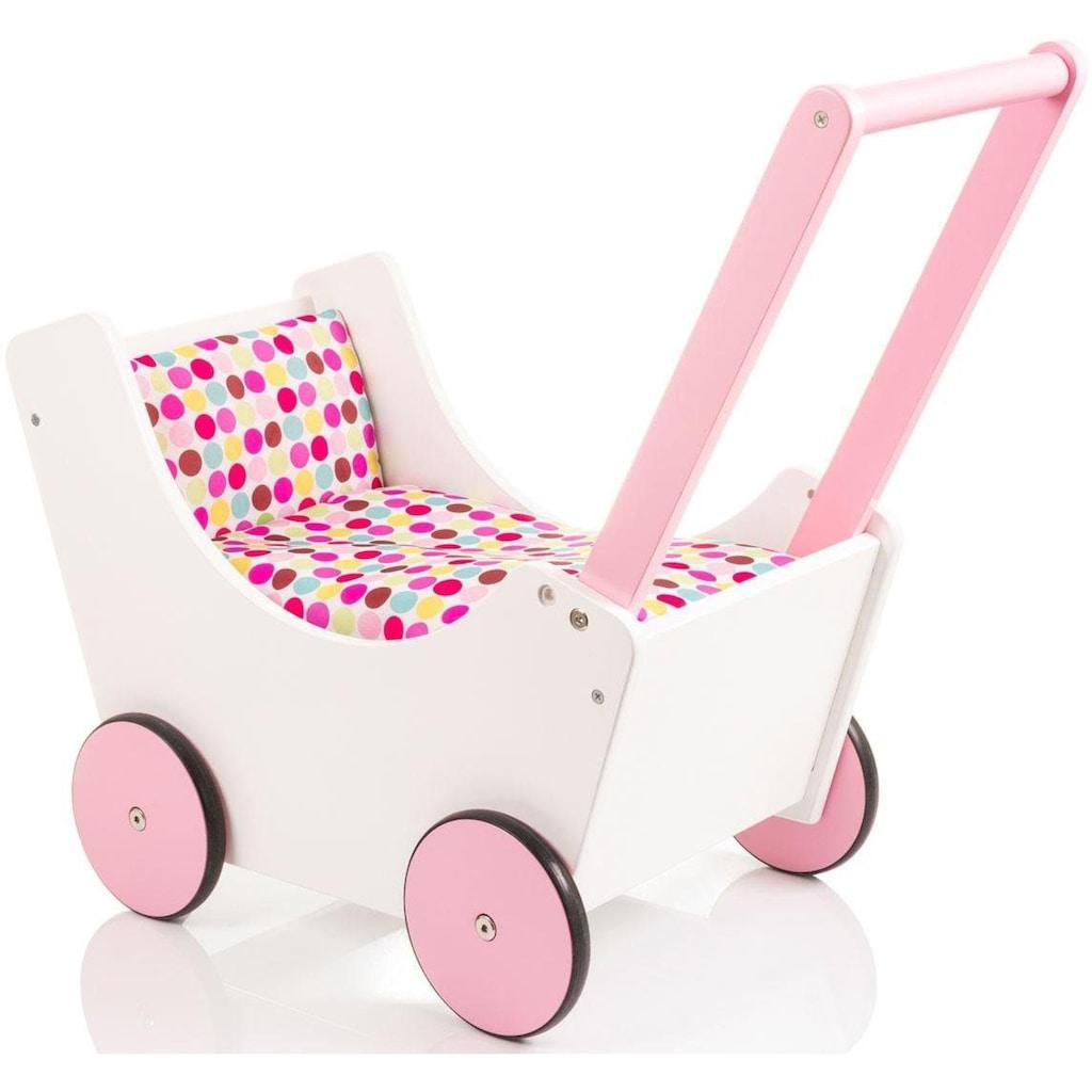 Sun Puppenwagen »Speedy Pünktchen weiß«, aus Holz