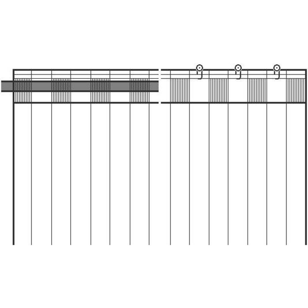 DEKO TRENDS Vorhang »Alba«, HxB: 245x146, Schal mit verdeckten Schlaufen