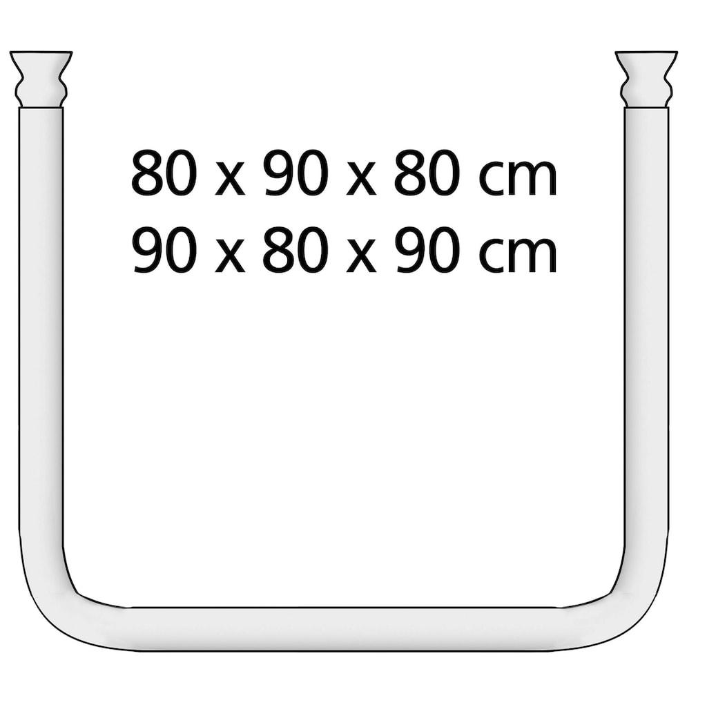 WENKO Winkelstange »Universal extra stark«, kürzbar, Chrom, variabel montierbar