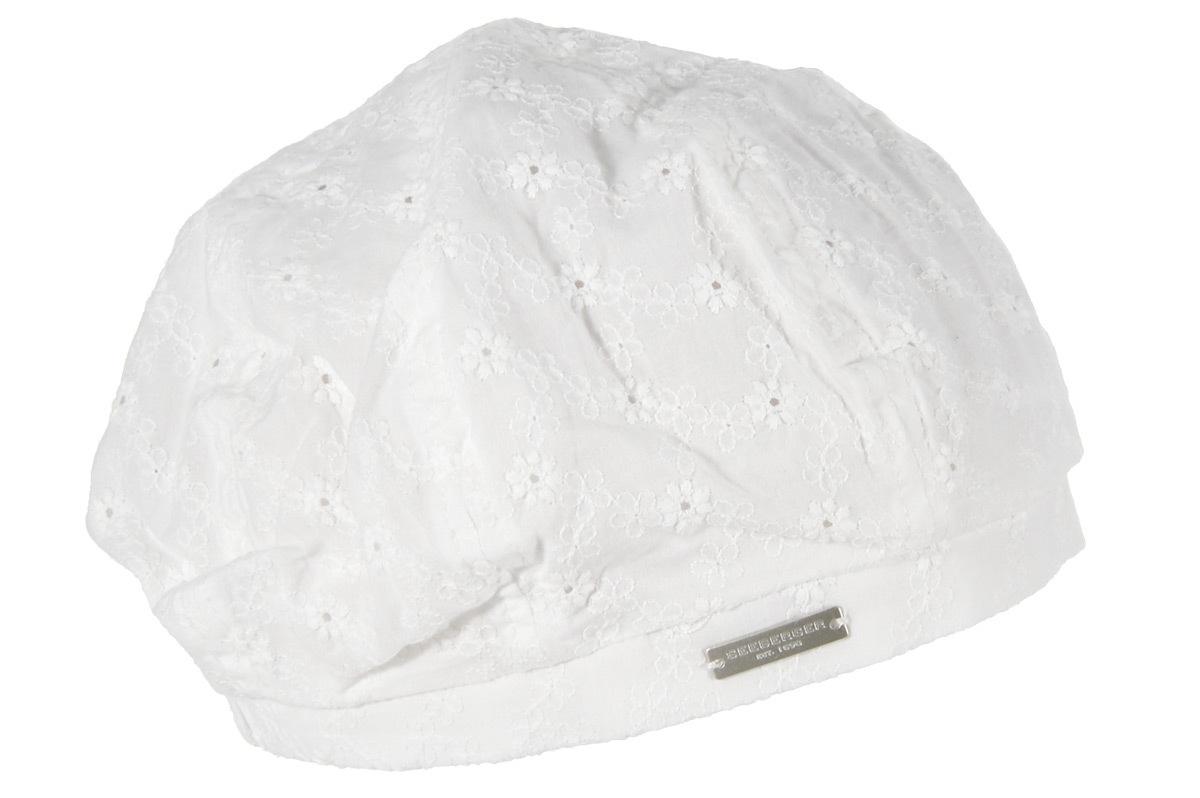 Seeberger Sonnenhut Baske aus besticktem Stoff 54360-0   Accessoires > Hüte > Sonnenhüte   Weiß   Seeberger