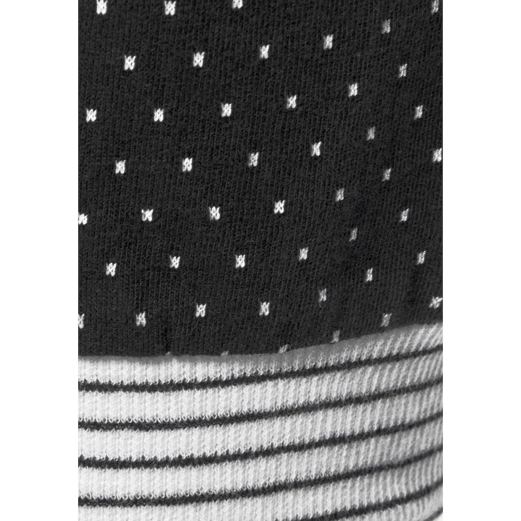 Vivance Dreams Capri-Pyjama, mit Pünktchen- und Streifenmuster