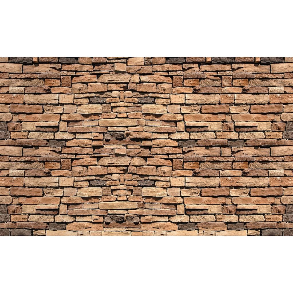 Consalnet Vliestapete »Bunte Backsteinmauer«, verschiedene Motivgrößen, für das Büro oder Wohnzimmer