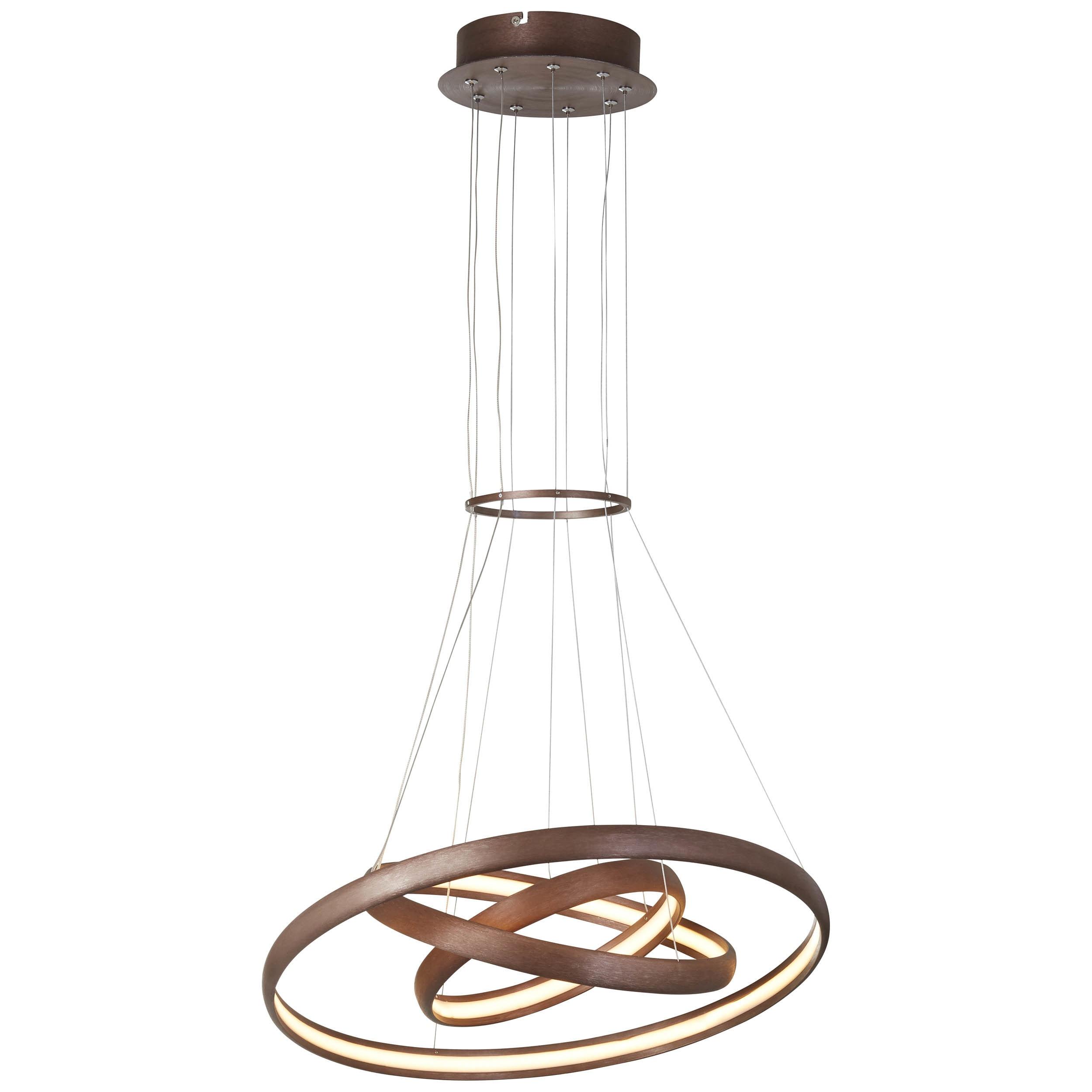 Brilliant Leuchten Shirley LED Pendelleuchte 59cm braun/Kaffee