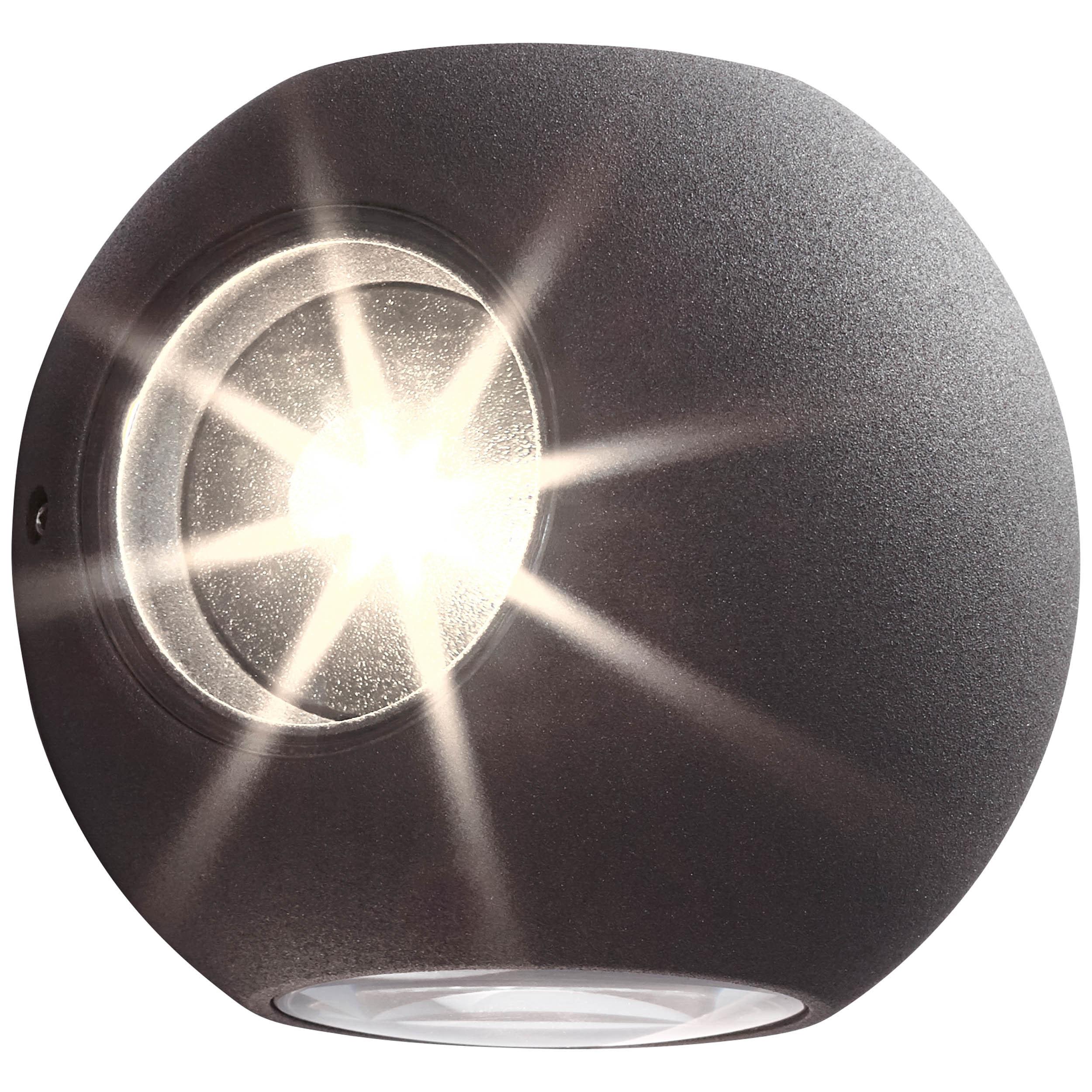 AEG Gus LED Außenwandleuchte 4flg anthrazit