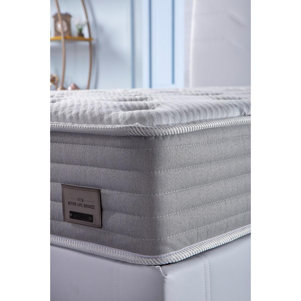 İSTİKBAL Taschenfederkernmatratze »New Active Life Bronze«, 351 Federn, (1 St.), Oase des Komforts in jeder Schlafposition - luxuriöser Bezug mit LUREX-Fäden versetzt