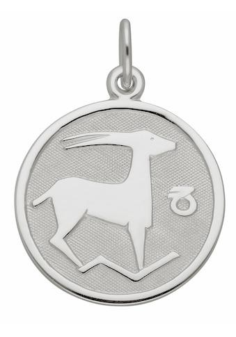 Adelia´s Kettenanhänger »925 Silber Sternzeichen Anhänger Steinbock Ø 15,7 mm« kaufen