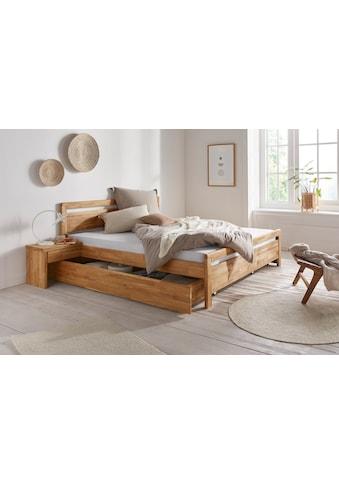 andas Nachtkommode »Adela«, aus massivem Eichenholz, Passend für Einzelbetten Serie... kaufen
