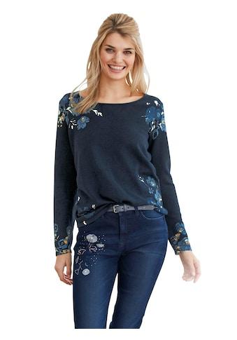 LINEA TESINI by Heine Rundhalspullover »Druck-Pullover« kaufen