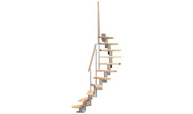 DOLLE Mittelholmtreppe »Dublin«, Buche, für Geschosshöhen bis 270 cm, versch. Ausführungen kaufen