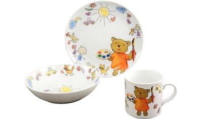 """CreaTable Kindergeschirr - Set """"Teddy"""" (3 - tlg.), Porzellan kaufen"""