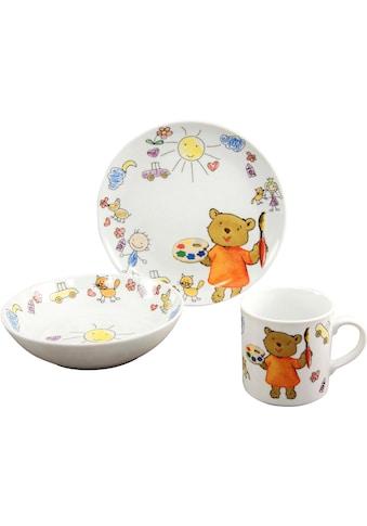 CreaTable Kindergeschirr-Set »Teddy«, (Set, 3 tlg.) kaufen