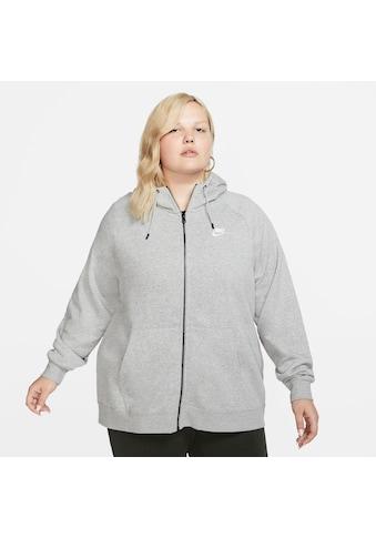 Nike Sportswear Kapuzensweatjacke »ESSENTIAL HOODY FULLZIP FLEECE PLUS SIZE« kaufen