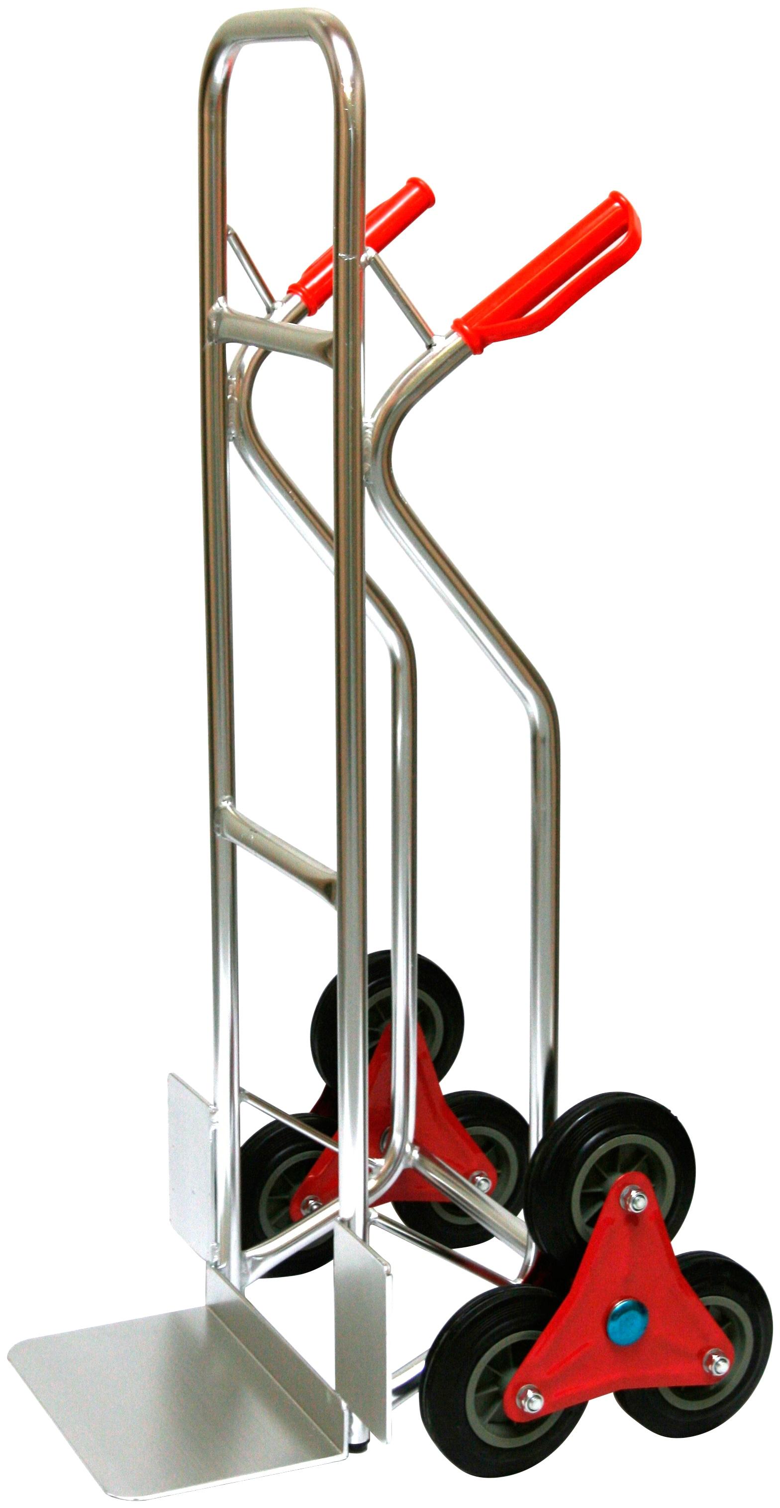 SZ METALL Treppensackkarre, 200 kg silberfarben Sackkarren Transport Werkzeug Maschinen