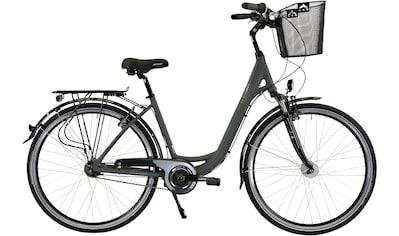 HAWK Bikes Cityrad »HAWK City Wave Deluxe Plus Grey«, 7 Gang, Shimano, Nexus Schaltwerk kaufen