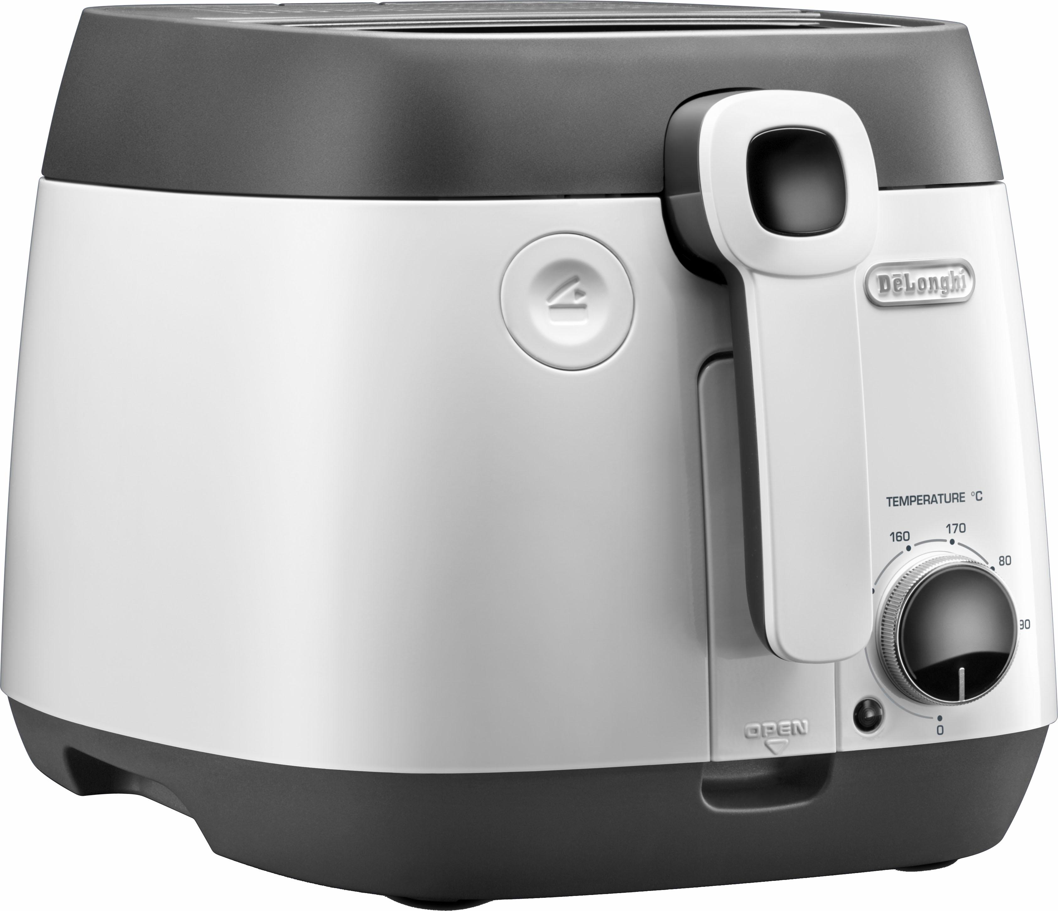 De´Longhi Fritteuse FS6055 1800 Watt Fassungsvermögen 2 4 Liter | Küche und Esszimmer > Küchengeräte > Fritteusen | Weiß | Delonghi