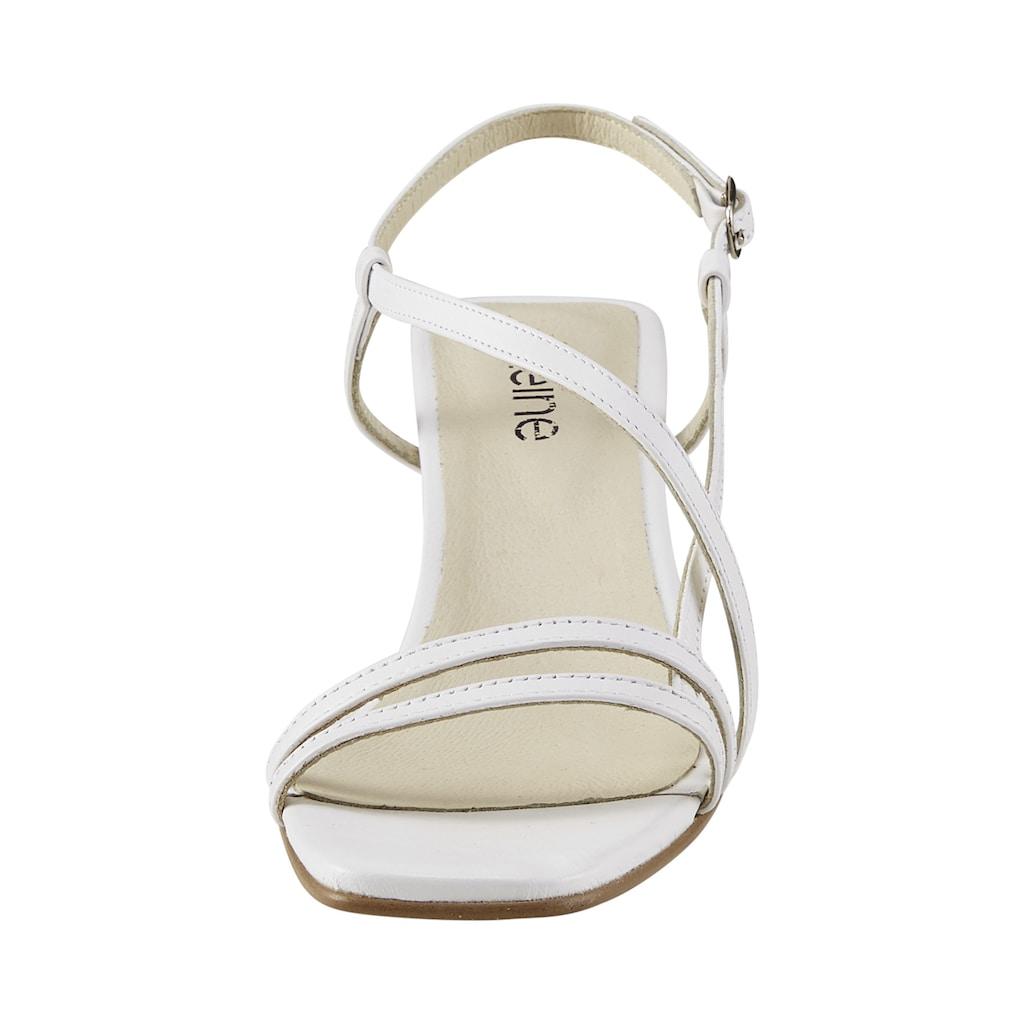Sandalette mit filligranen Riemchen