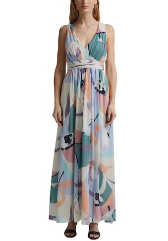 Esprit Collection Maxikleid, in Maxi-Länge mit Allover Print in bunten Farben kaufen