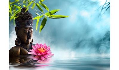Papermoon Fototapete »Buddha in Meditation.«, Vliestapete, hochwertiger Digitaldruck kaufen