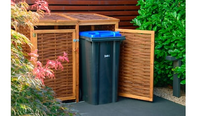 DOBAR Mülltonnenbox 2x240l, BxTxH: 137x83x132 cm kaufen