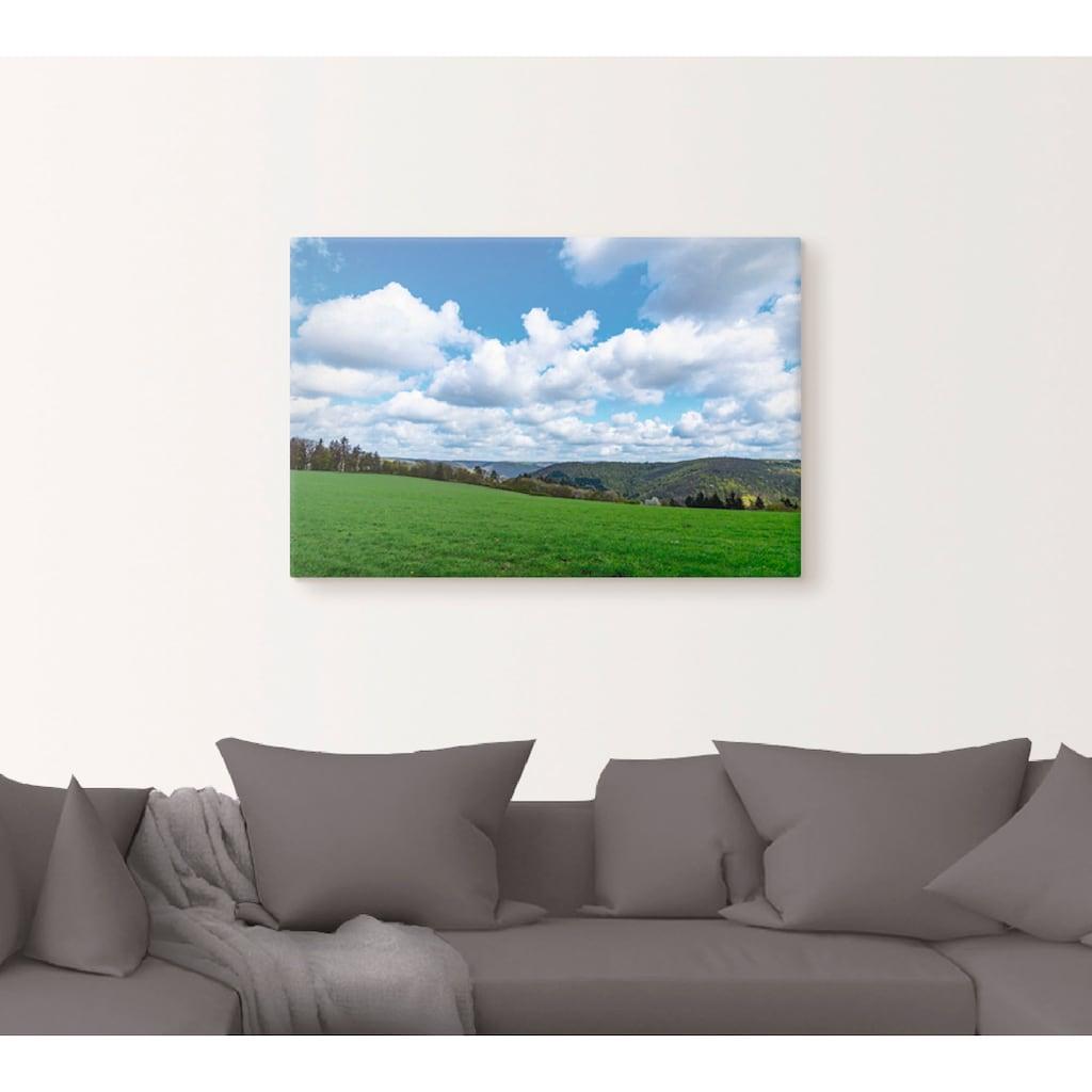 Artland Wandbild »Wolken ziehen langsam über das Land«, Himmel, (1 St.), in vielen Größen & Produktarten - Alubild / Outdoorbild für den Außenbereich, Leinwandbild, Poster, Wandaufkleber / Wandtattoo auch für Badezimmer geeignet