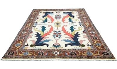 morgenland Wollteppich »Heriz Teppich handgeknüpft beige«, rechteckig, 14 mm Höhe kaufen