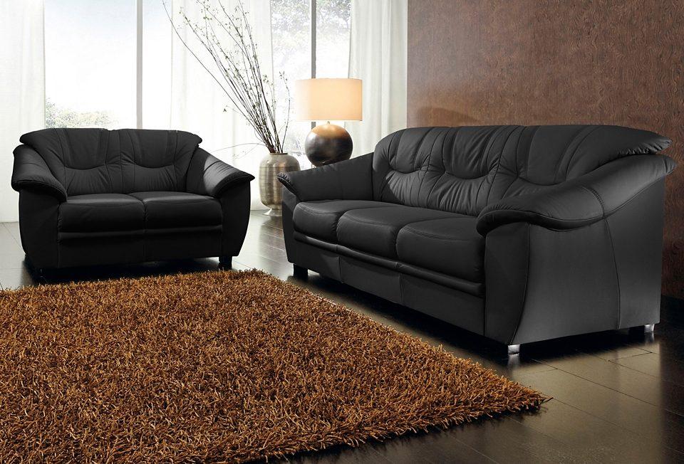 sit&more Polstergarnitur, Naturleder (2-tlg.) | Wohnzimmer > Sofas & Couches > Garnituren