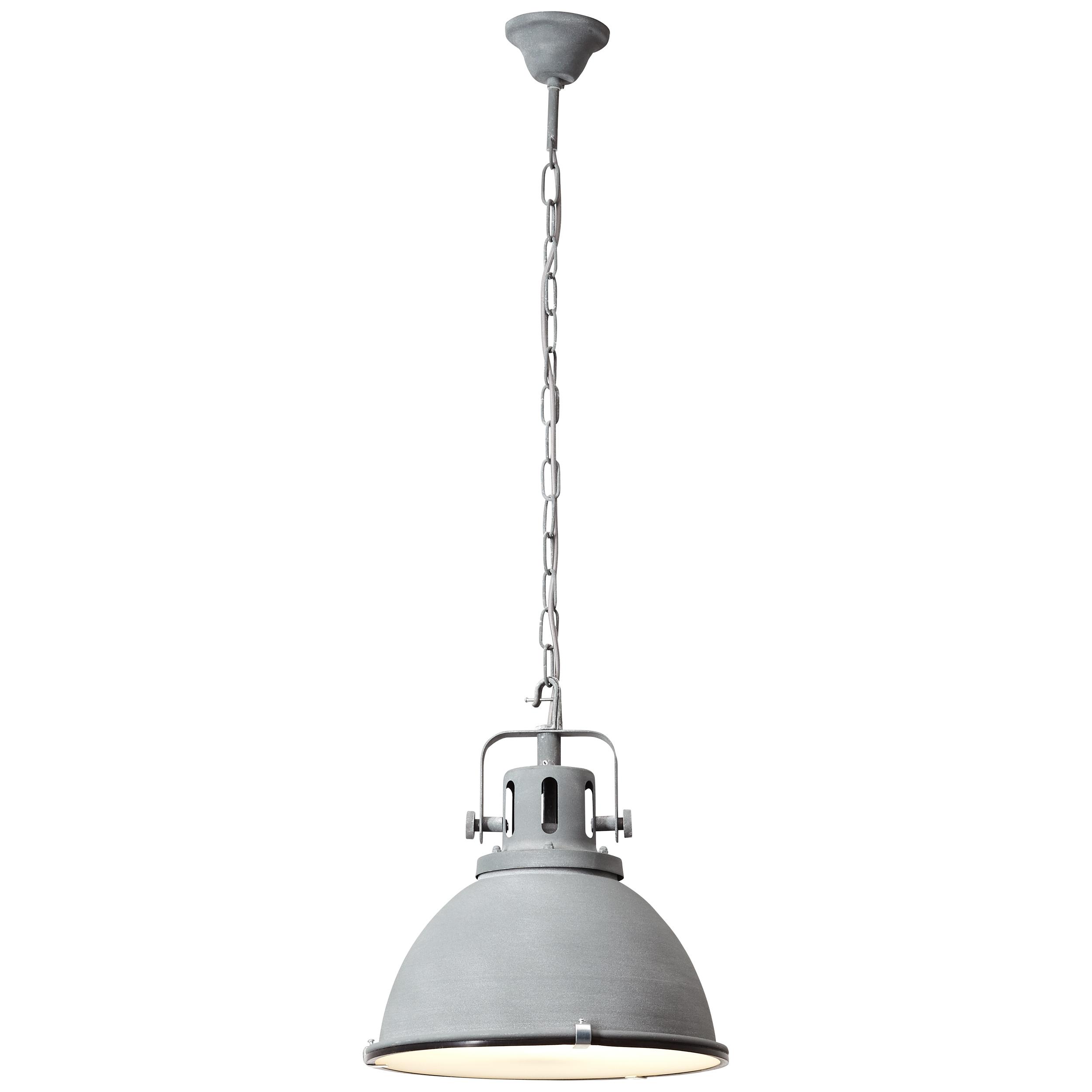 Brilliant Leuchten Deckenleuchten, E27, Jesper Pendelleuchte 38cm Glas grau Beton