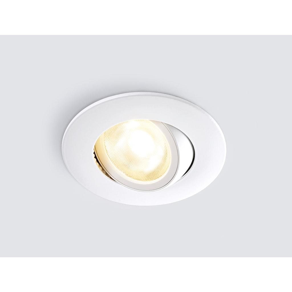 HEITRONIC LED Einbaustrahler »DL8002«, LED-Modul, 1 St., Warmweiß, Lichtfarbe einstellbar (warmweiß oder neutralweiß)