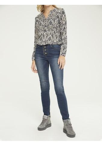 Push - up Jeans Aleria mit Knöpfen und Zipperdetails kaufen