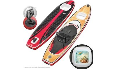 Sportstech Inflatable SUP - Board »WBX_WOODENBLACK«, Funboard , (Set, 9 - tlg., mit Paddel, Pumpe, Transportrucksack und Sitz) kaufen